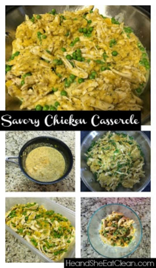 clean eating recipe, savory chicken casserole