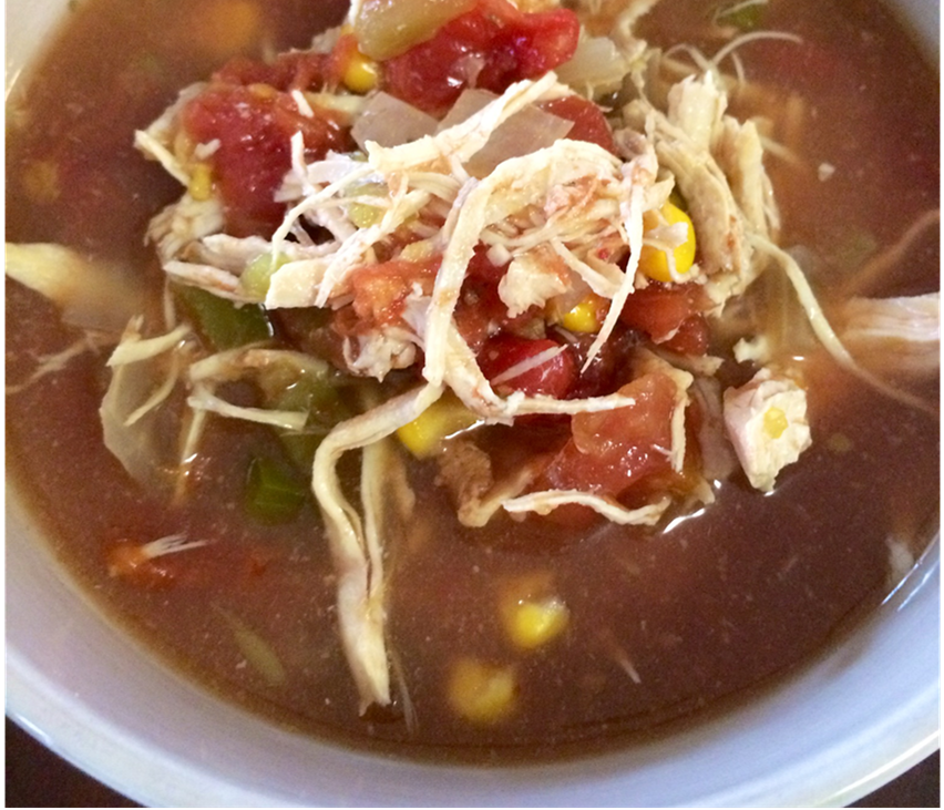 clean eating recipe, chicken tortilla soup
