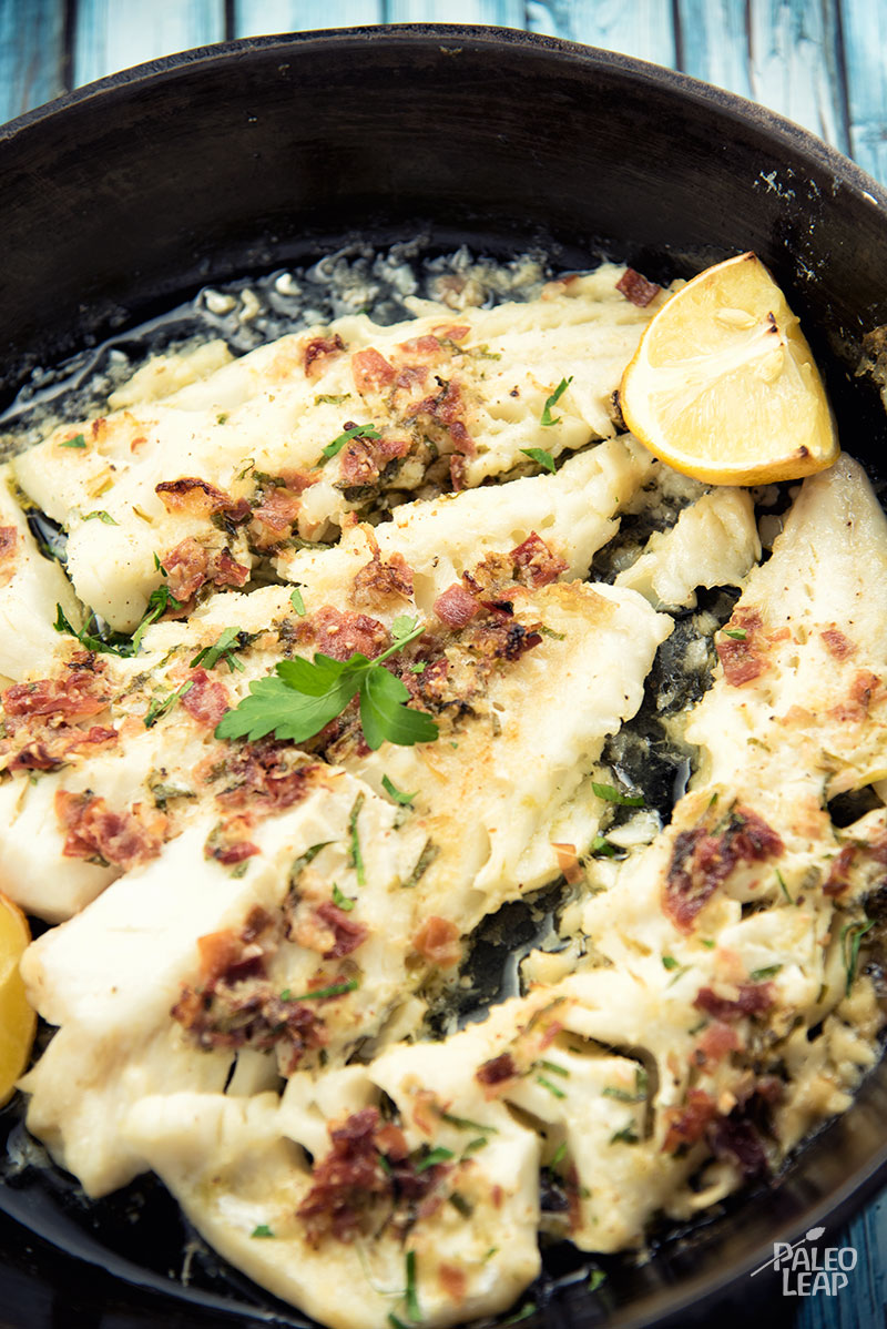 clean eating recipe, garlic roasted cod