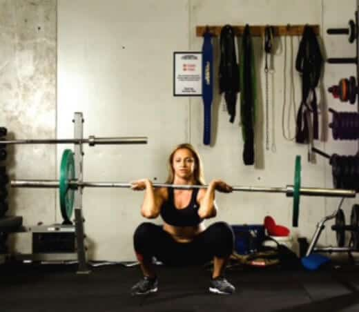 leg workouts for women - front squat