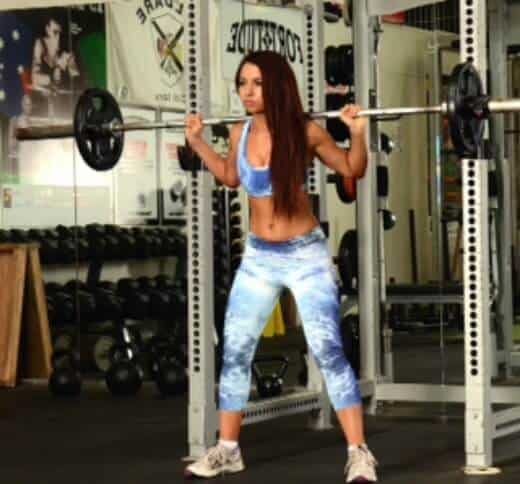 leg workouts for women - back squat