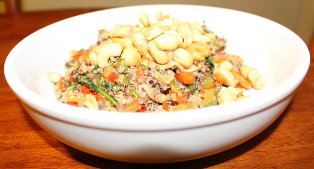 Capsicum Cashew Quinoa