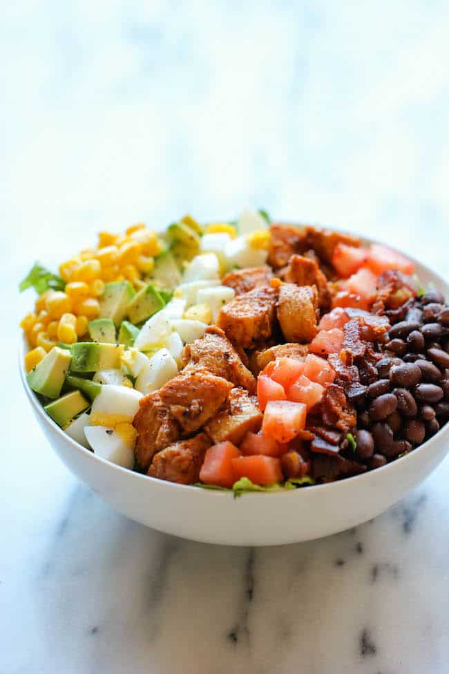 clean eating recipe, bbq chicken salad