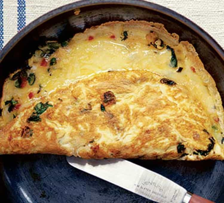 clean eating recipe, chili cheese omelette