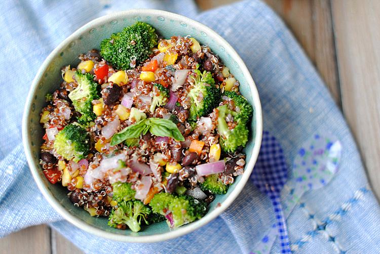 clean eating recipe, quinoa salad