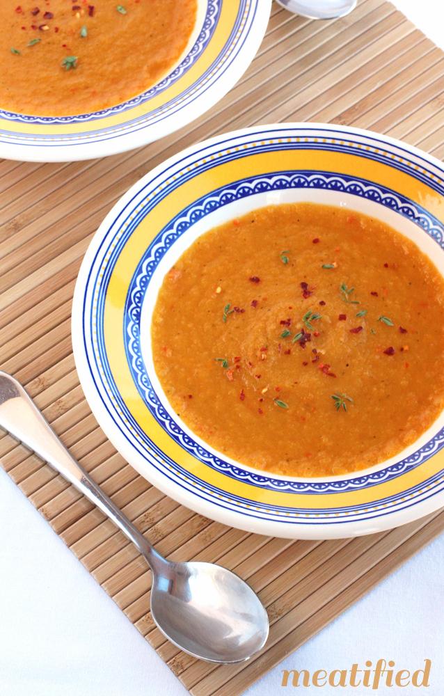 clean eating recipe, sweet potato soup