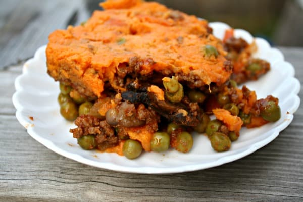 clean eating recipe, shepherds pie sweet potato