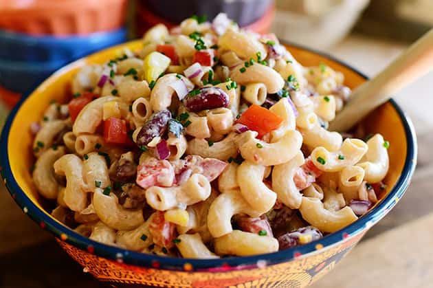 clean eating recipe, macaroni salad