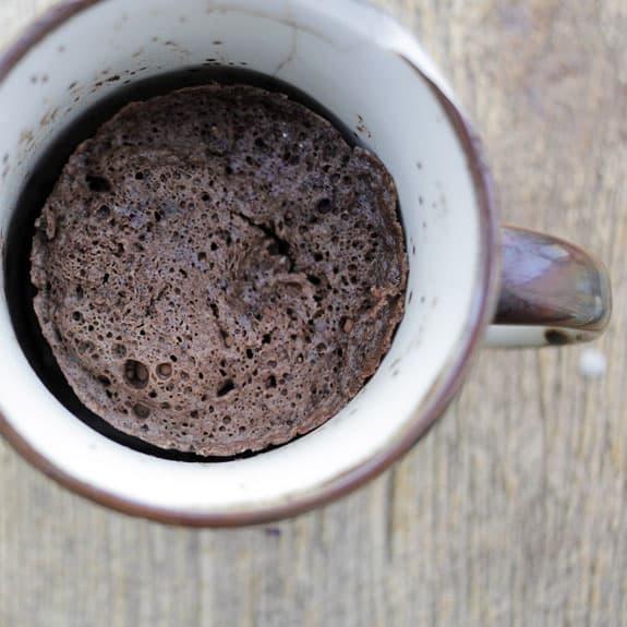 clean eating recipe, chocolate mug cake