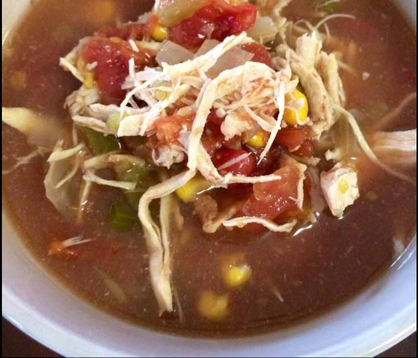 clean eating recipe, chicken tortilla soup