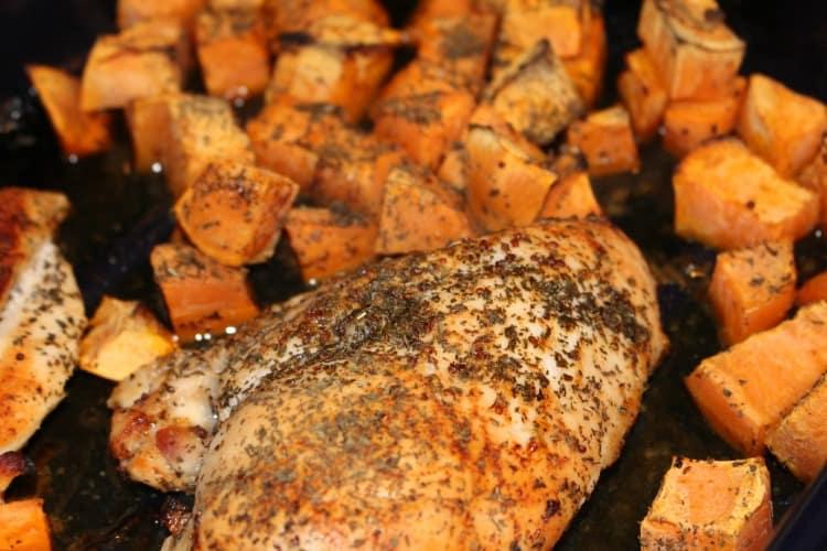 clean eating recipe, garlic chicken