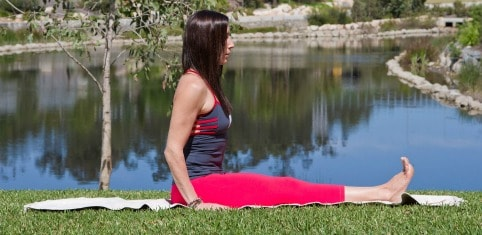 beginner yoga poses - dandasana