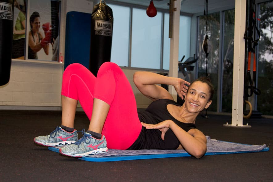 lower ab workouts - elbow to knee
