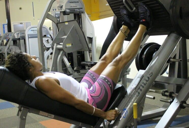 leg workouts for women - leg press