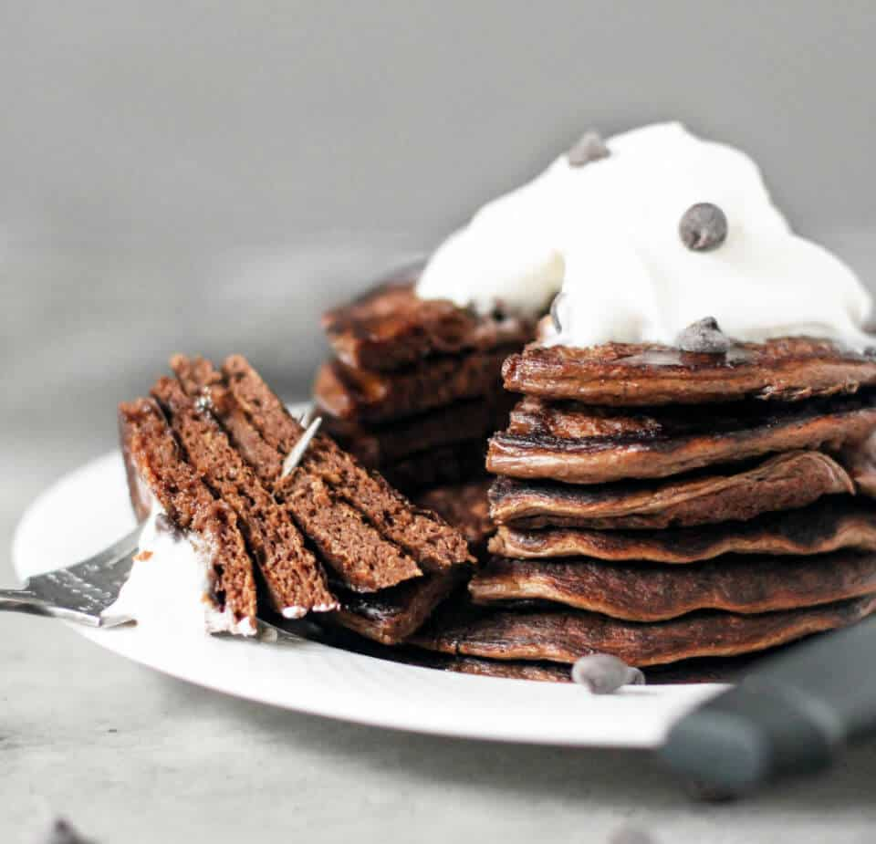 healthy dessert recipes -chocolate pancakes