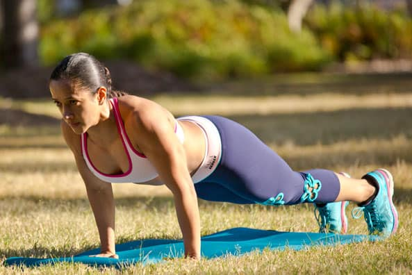 fitness goals for women - plank