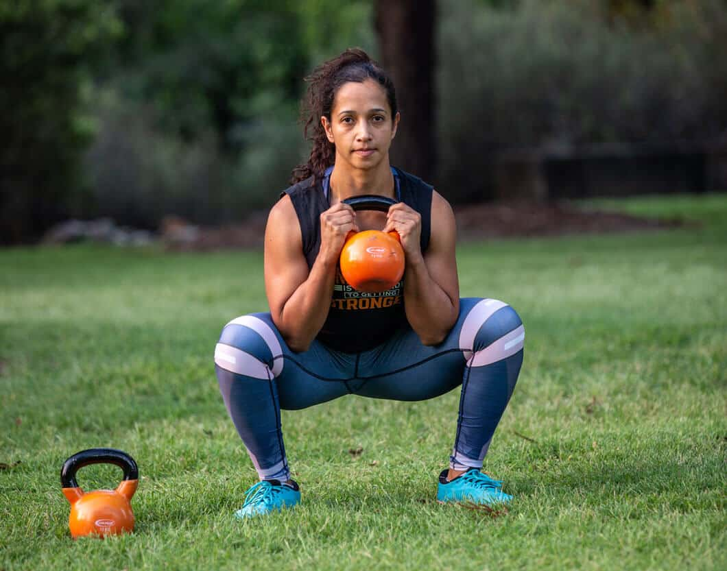kettlebell legs workout - squats